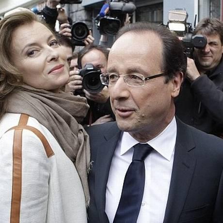 Valerie Trierweiler e François Hollande Foto: AP