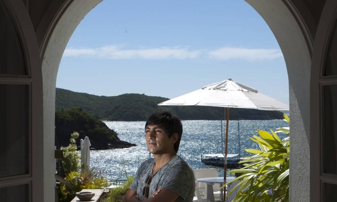 Chef. Catrimán chegou a Búzios há três meses Foto: Agência O Globo / Guilherme Leporace
