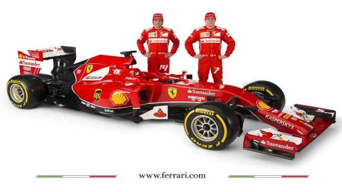 Alonso e Raikkonen apresentam o novo carro da Ferrari Foto: site da Ferrari / Reprodução