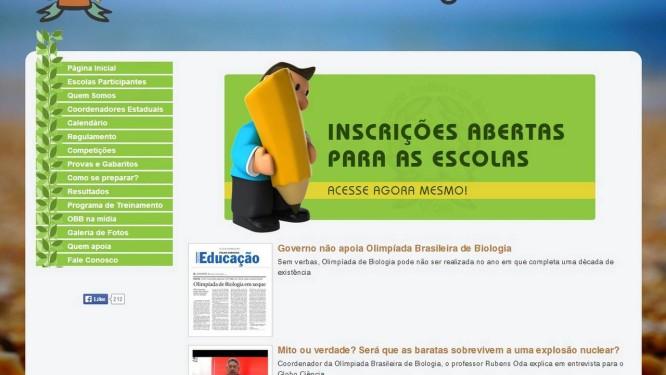Site da competição anuncia abertura das inscrições Foto: Reprodução / Internet