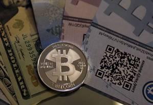Bitcoin: moeda pode ter sido usada para compra e venda anônima de drogas Foto: Foto Reuters