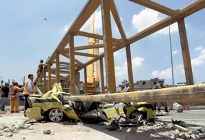 0a7f2a1bf2 Queda de passarela na Linha Amarela completa quatro anos no domingo ...