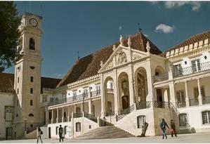 Campus da Universidade de Coimbra, em Portugal Foto: Reprodução do site