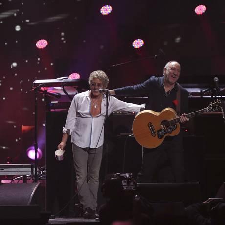 Roger Daltrey e Pete Townshend, em um show do The Who no Madison Square Garden, em 2012 Foto: Terceiro / Agência O Globo