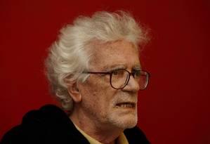 O cineasta Eduardo Coutinho, de 80 anos, foi morto neste domingo, em sua casa, no bairro da Lagoa, Zona Sul do Rio Foto: Domingos Peixoto / Agência O Globo