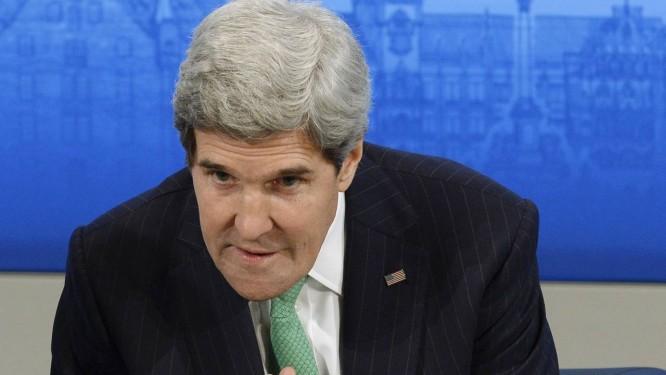 O secretário de Estado americano, John Kerry durante uma conferência em Munique: esforço pessoal pela paz. Foto: CHRISTOF STACHE / AFP