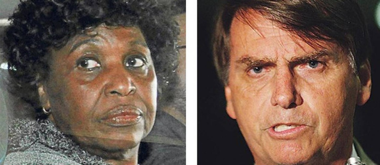 Para Benedita (esq.), agressão no Flamengo foi perversa, já Bolsonaro (dir.) disse que foi ato corajoso Foto: O Globo / Arquivo