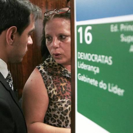 A médica cubana Ramona Matos Rodriguez na Câmara, após anunciar que abandonou o Mais Médicos Foto: Jorge William / Agência O Globo