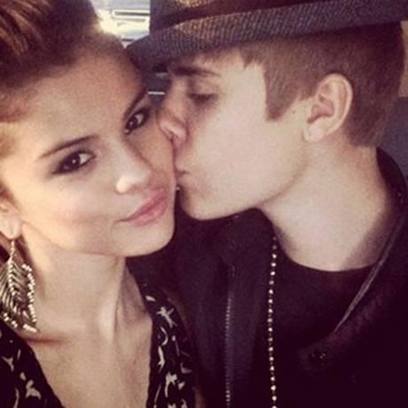Selena Gomez e Justin Bieber juntos em foto postada por ela no Instagram Foto: Reprodução
