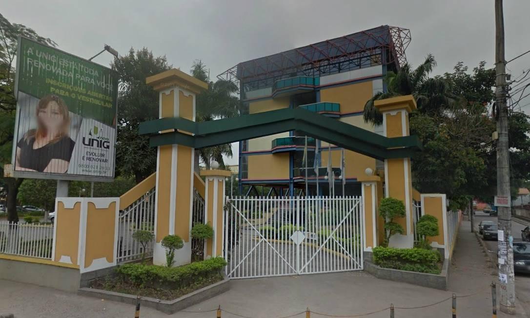 Um dos prédios do campus da Unig em Nova Iguaçu Foto: Reprodução / Google Maps
