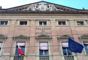 Palazzo di Giustizia onde Henrique Pizzolato participa de audiência na manhã desta sexta-feira Foto: Deborah Berlinck/O Globo