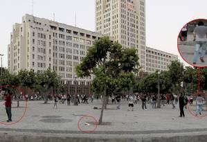 Homem que supostamente lançou artefato que feriu cinegrafista Foto: Agência O Globo