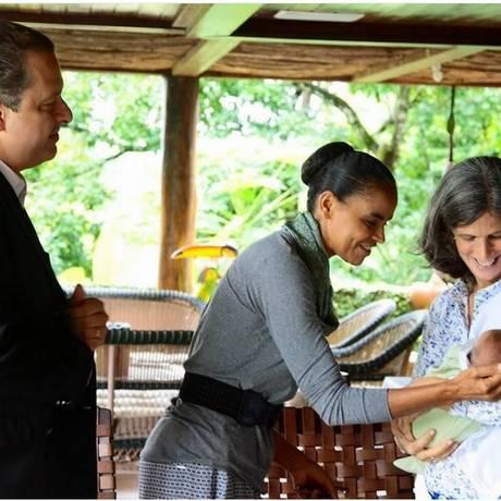 Marina Silva visitou o presidenciável Eduardo Campos nesta sexta-feira - Foto: Divulgação