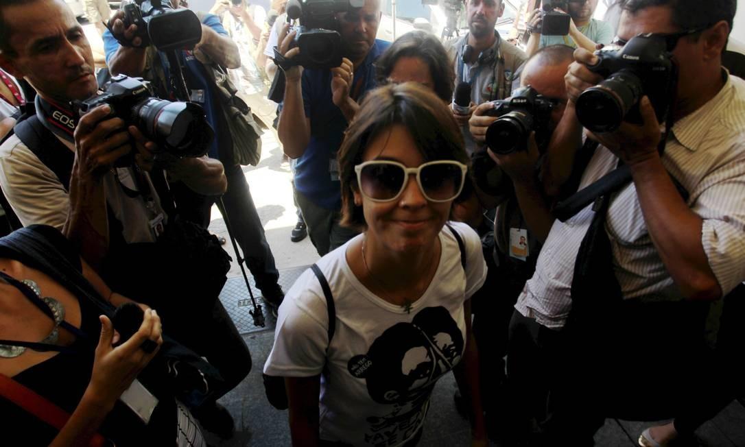 A ativista Elisa Quadros prestou depoimento à polícia nesta terça-feira Foto: Gabriel de Paiva / Agência O Globo