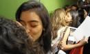 Ato teve 'beijaço' contra Bolsonaro - Foto: Andre Coelho / Agência O Globo