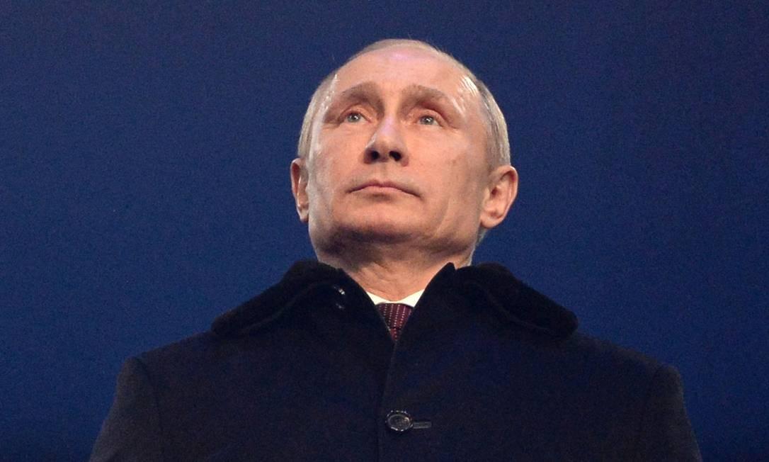 Vladimir Putin na abertura dos Jogos Olímpicos de Sochi Foto: AFP-7-2-2014