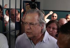O ex-ministro José Dirceu Foto: Michel Filho / Arquivo O Globo