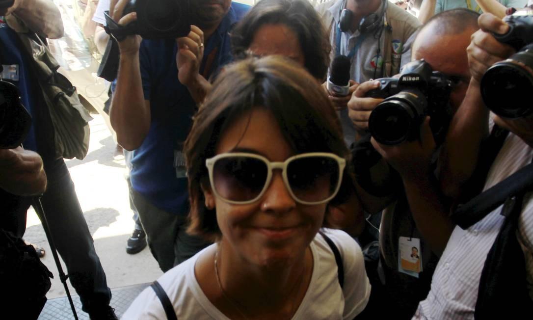 A ativista Elisa Quadros Pinto Sanzi, a Sininho Foto: Gabriel de Paiva / Agência O Globo