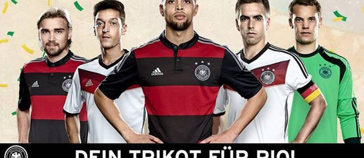 Alemanha lança sua camisa reserva inspirada no Flamengo Foto: Divulgação
