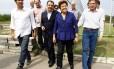 Lindbergh, Cabral, Dilma e Crivella em campanha no Rio para as eleições de 2010