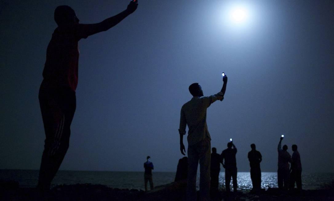 Imagem que venceu World Press Photo foi tirada por John Stanmeyer em fevereiro de 2013, na costa da cidade de Djibouti Foto: HANDOUT / Reuters