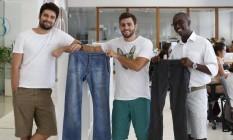 Ornelas, Rulière e Passos: calças na gaveta Foto: Simone Marinho / Agência O Globo