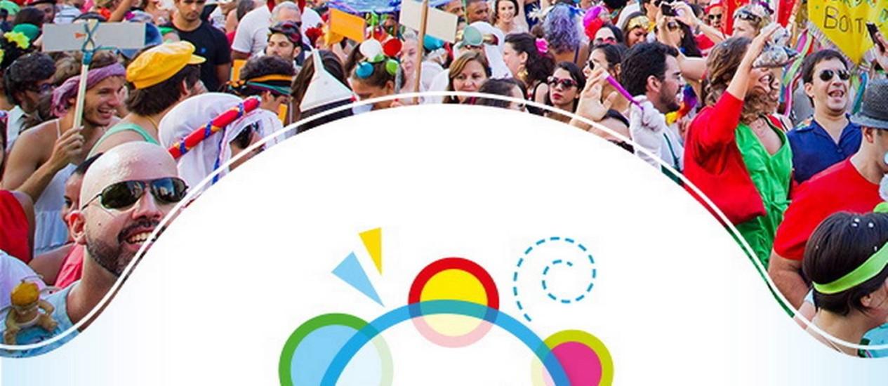 O aplicativo com a programação dos blocos de carnaval Foto: Terceiro / Reprodução