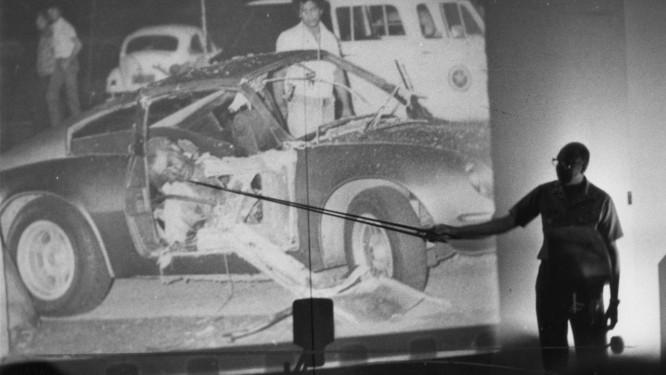 Apresentação dos resultados do primeiro Inquérito Policial Militar, de 1981, que concluiu que o sargento Rosário e o capitão Wilson Machado foram vítimas e não autores do atentado no Riocentro Foto: 30/06/1981 / Anibal Philot
