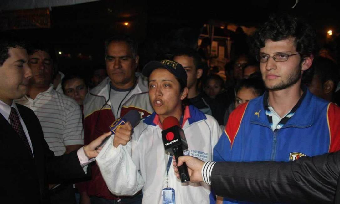 Gaby Arellano: segurança é a principal bandeira dos estudantes Foto: El Nacional/2011