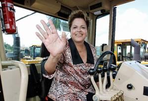 Dilma Rousseff durante cerimônia de entrega de máquinas agrícolas em Minas Gerais Foto: Divulgação / Roberto Stuckert Filho