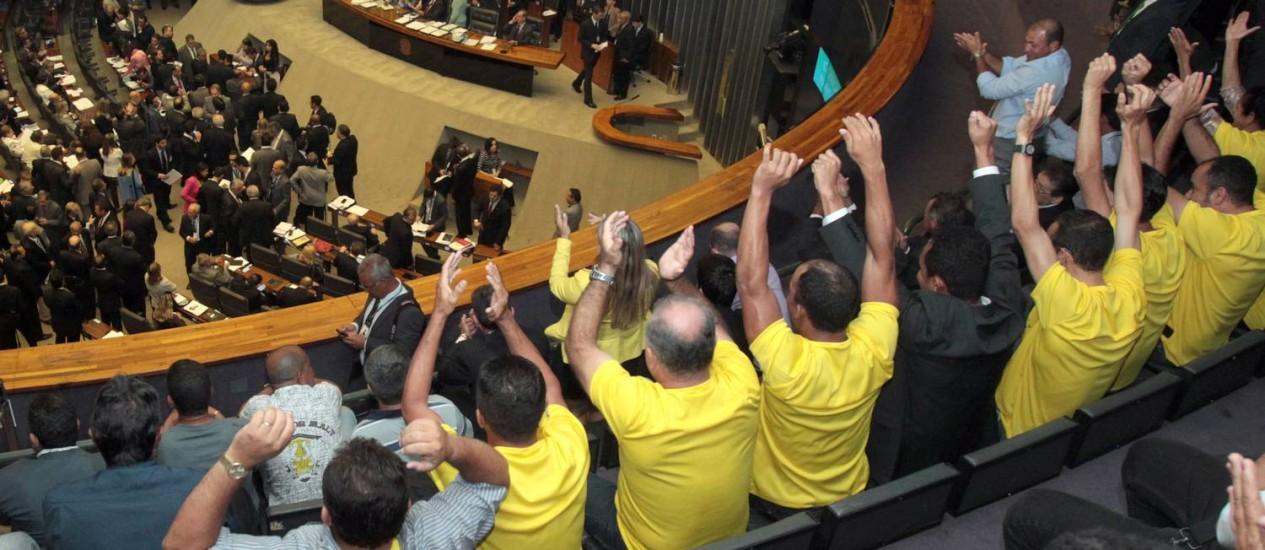 Sessão do Congresso Nacional tem galerias lotadas Foto: Givaldo Barbosa / O Globo