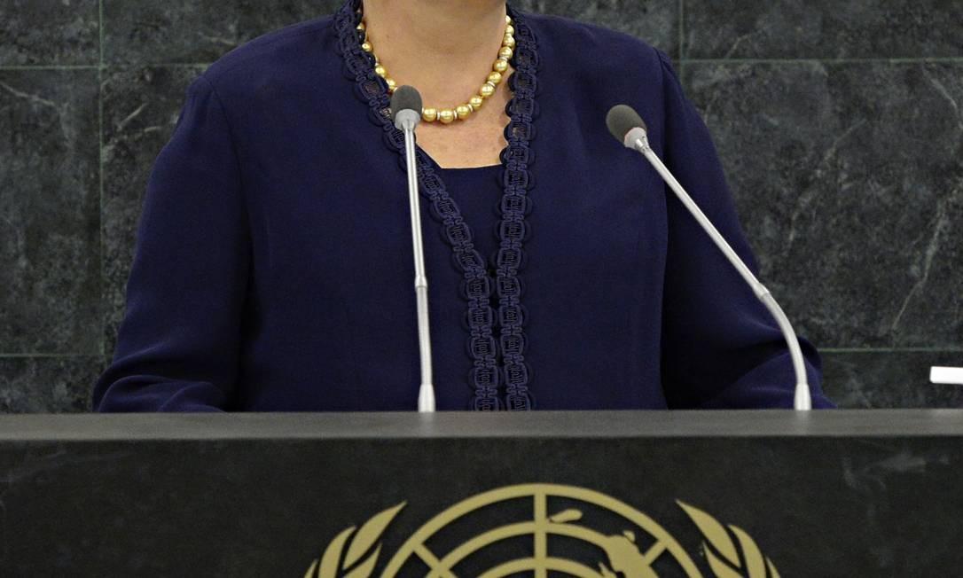 Dilma Roussef discursa na ONU Foto: AP-24-09-2013