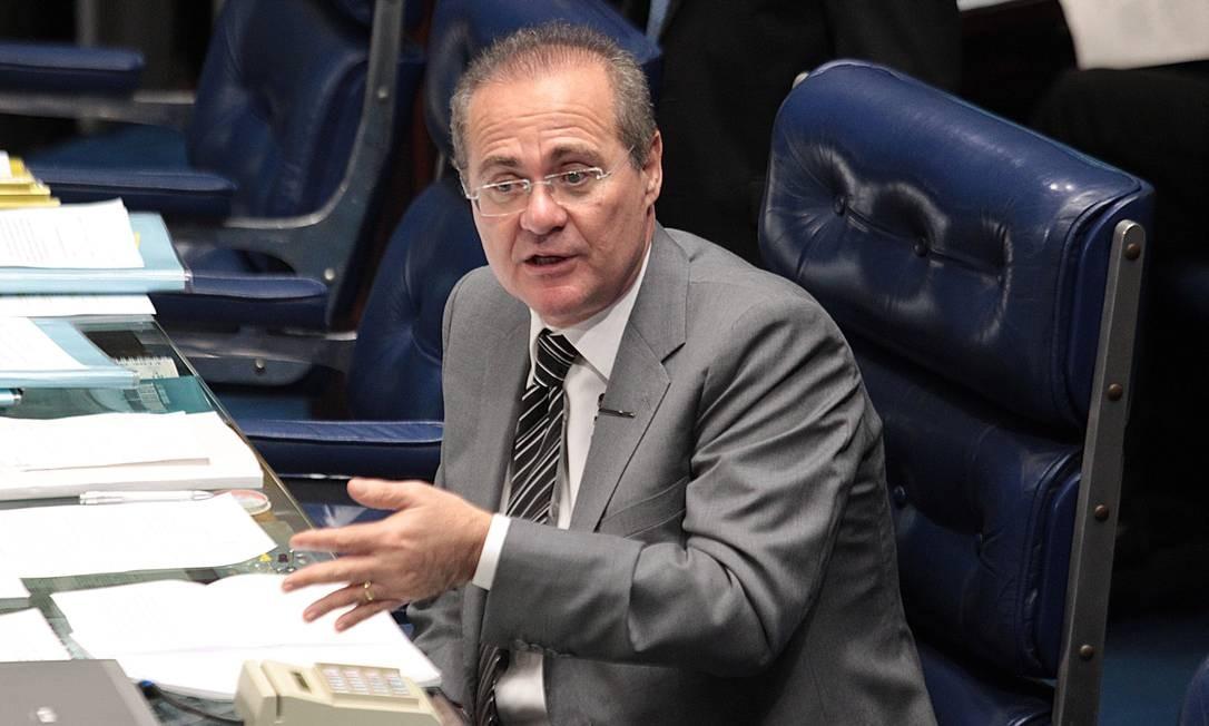 Renan Calheiros, presidente do Senado - Foto: André Coelho / Agência O Globo