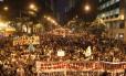 Protesto. Passeata realizada durante a greve de professores no ano passado: docentes irão da prefeitura à Cinelândia na segunda-feira