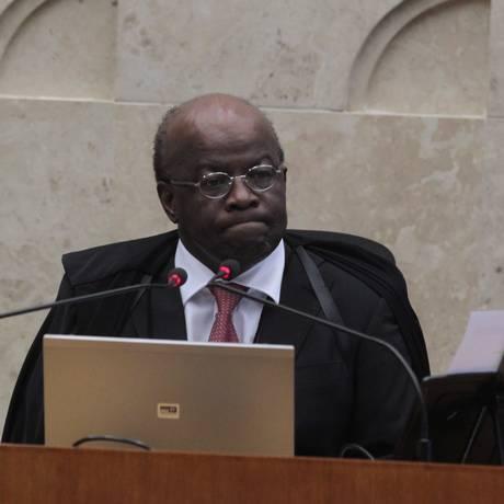 Presidente do STF e relator do mensalão, ministro Joaquim Barbosa Foto: Givaldo Barbosa / Agência O Globo