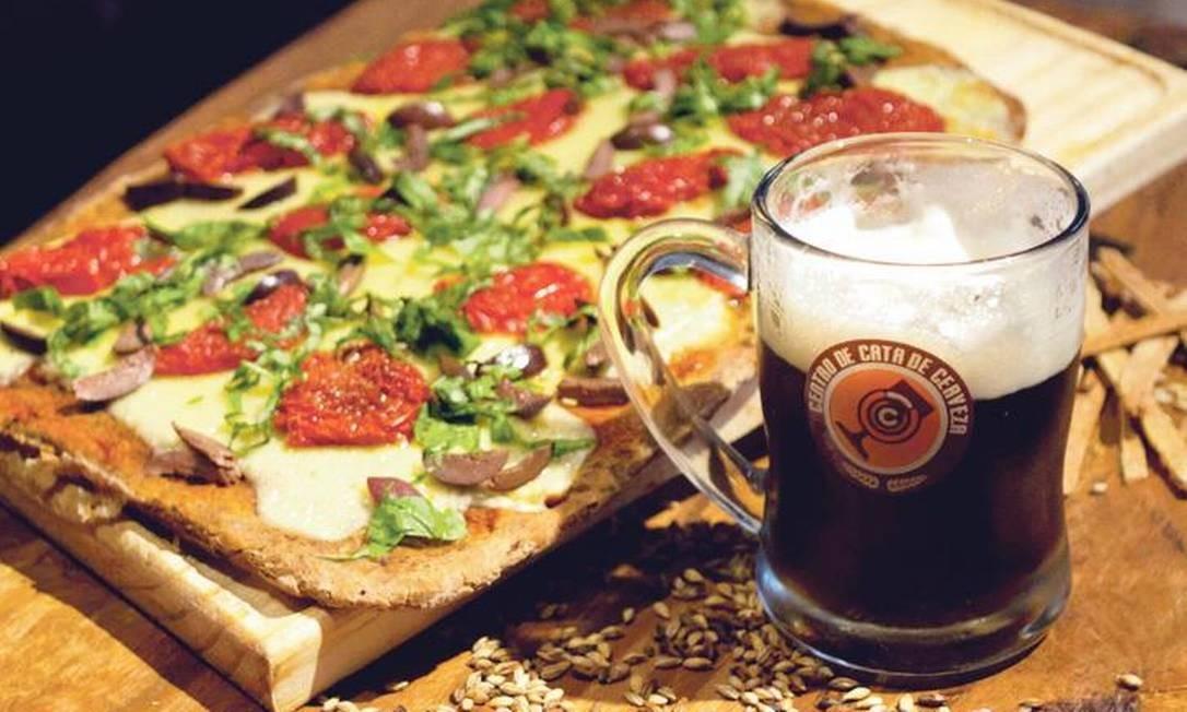 As pizzas levam farinha e maltes cervejeiros Foto: Divulgação