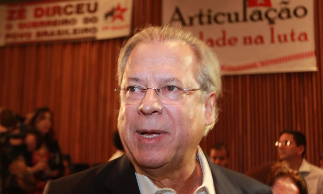 José Dirceu, condenado no julgamento do mensalão Foto: Ailton de Freitas / O Globo / 05-02-2013