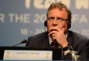 Valcke acredita que Brasil vai organizar a 'Copa das Copas' Foto: Vanderlei Almeida / AFP