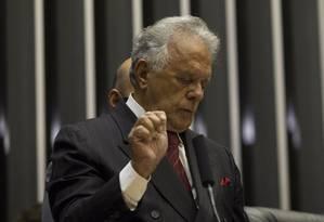 Edmar Moreira assumiu a suplência nesta terça-feira Foto: Andre Coelho / Agência O Globo