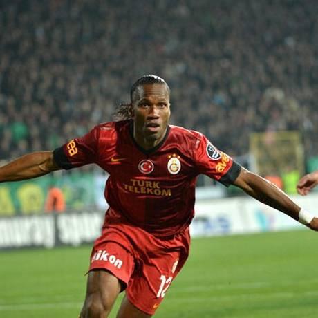 Drogba vai enfrentar o Chelsea pela primeira vez Foto: site oficial do Galatasaray / Divulgação