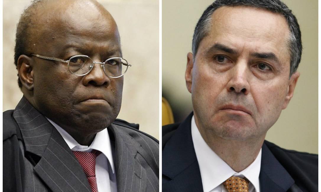 Barbosa e Barroso bateram boca no plenário nesta quarta-feira Foto: Divulgação STF