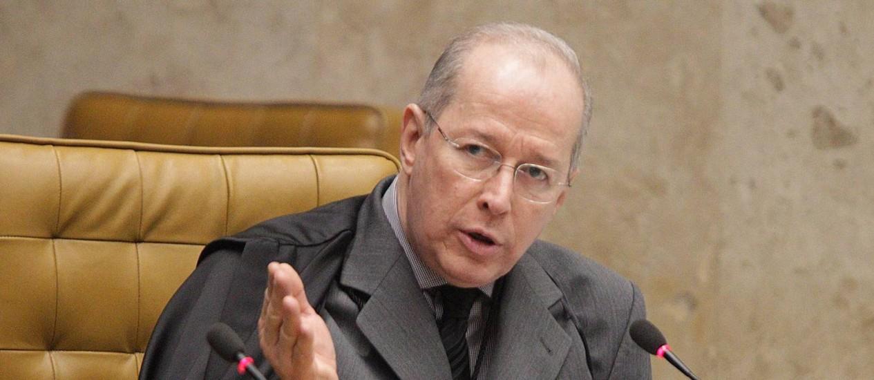 O ministro Celso de Mello Foto: André Coelho / Agência O Globo