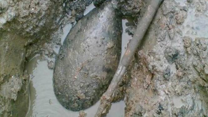 Exemplo das bombas da Segunda Guerra Mundial que estão sendo desenterradas pelas tempesatades no Reino Unido Foto: Divulgação
