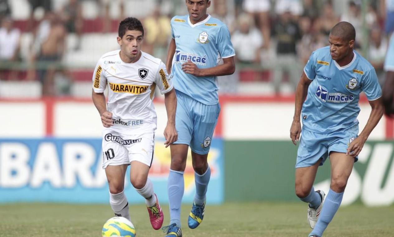 Botafogo e Macaé jogam em Moça Bonita Foto: Bruno Gonzalez / Agência O Globo