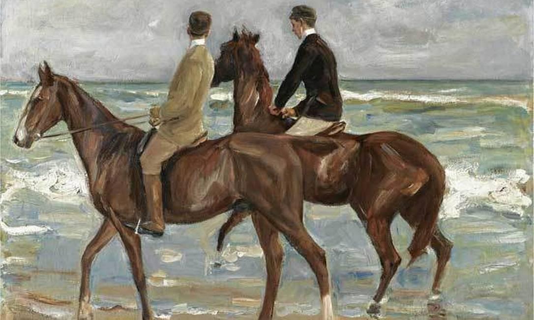 'Dois cavaleiros na praia', pintura de Max Liebermann Foto: Reprodução