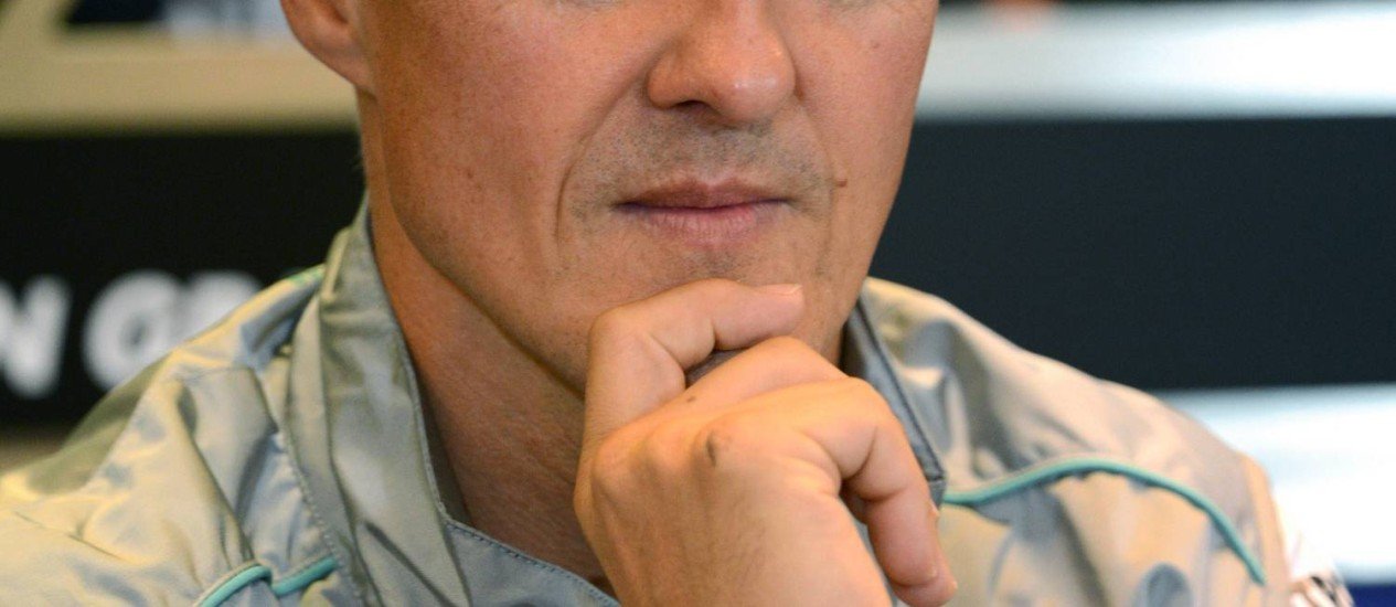 Michael Schumacherem agosto de 2012: médicos teriam dito à família que ele depende de um milagre para sobreviver Foto: DIMITAR DILKOFF / AFP
