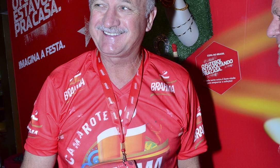 Técnico Felipão em camarote de cervejaria na Sapucaí Foto: Felipe Panfili /AG News / Divulgação
