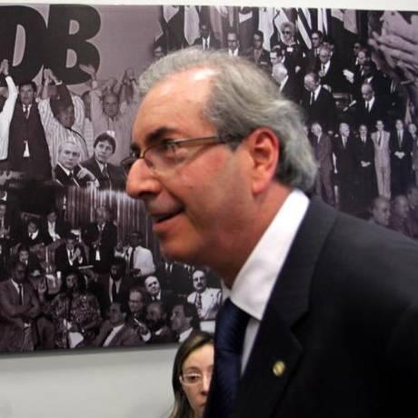 Líder do PMDB na Câmara, Eduardo Cunha (PMDB-RJ) Foto: Ailton de Freitas / O Globo
