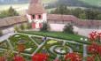 Jardins do Castelo de Gruyère, na Suíça