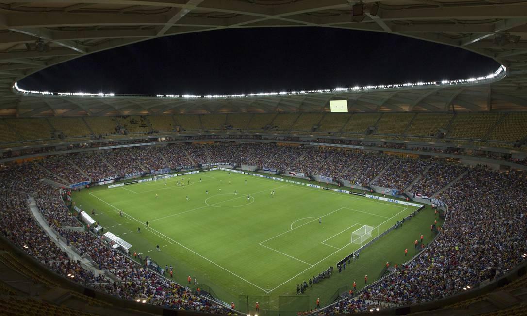 A Arena da Amazônia, inaugurada domingo Foto: STRINGER/BRAZIL / REUTERS